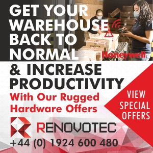 Get your warehouse back to normal & increase productivity with Renovotec RUGGED HARDWARE OFFERS