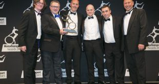 Palletline is celebrating winning the Motor Transport 'Safety in Operation' Award at the event's 30th annual ceremony