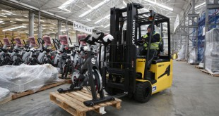 Hyundai Forklifts Fit the Bill for Johnson Health Tech