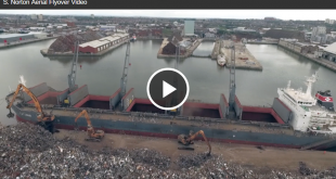 S Norton & Co drone video shows scrap processing from the air