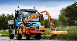 From growing grass to drifting snow Highland Council versatile Mercedes-Benz Unimog does it all