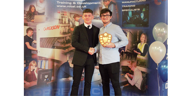 AMH Material Handling apprentice wins NITAL Full Time Learner of the year award