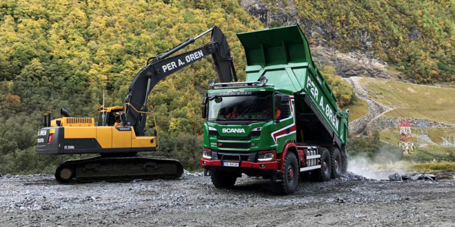 Scania 6x6 G500 trucks replace dumpers in Norway