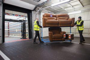 Transdek new loading bay DFS Glasgow