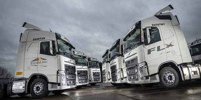VOLVO INCREASES SHARE OF FRESHLINC FLEET WITH 20 NEW FH TRACTORS
