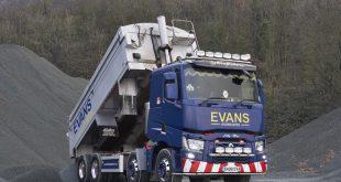 Renault Trucks Range C delivers for Evans Aggregates