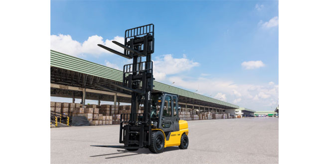 Hyundai Material Handling kicks off the introduction of its new 9V diesel 'smart' forklift trucks