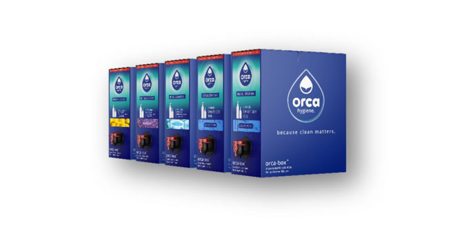 Orca Hygiene launches recyclable 'Wine Box' dispenser of sanitiser gel to protect from COVID